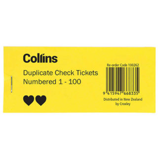 Collins Check Tickets (50pk)