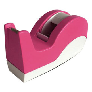 Dixon Tape Dispenser Pink And White Large 66M
