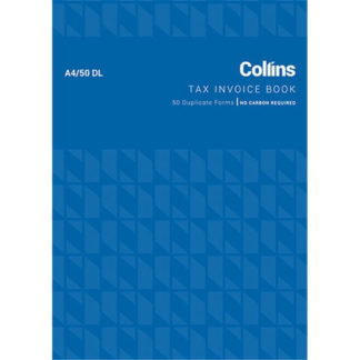 Collins Tax Invoice A4/50DL - No Carbon