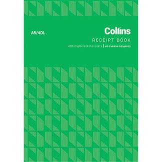 Collins Cash Receipt A5 4DL 100 Leaf - No Carbon