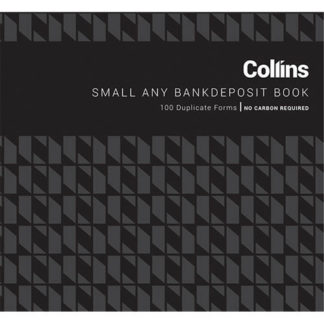 Collins Deposit Book Any Bank Small - No Carbon