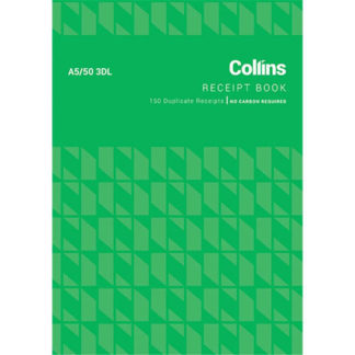 Collins Cash Receipt A5/50 3DL - No Carbon