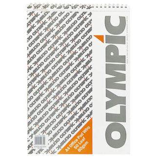 Olympic Pad A4 Wiro Office 50 Leaf 80GSM