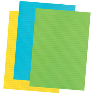 Olympic Topless Pad A4 Fluoro 3 Pack 80GSM