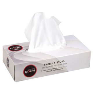 Dixon Tissues Facial 2 Ply White Box 100