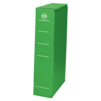 FM Storage Carton Green Foolscap (25pk)