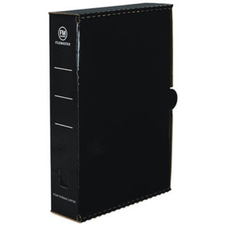 FM Storage Carton Black Gloss Laminated Foolscap (25pk)
