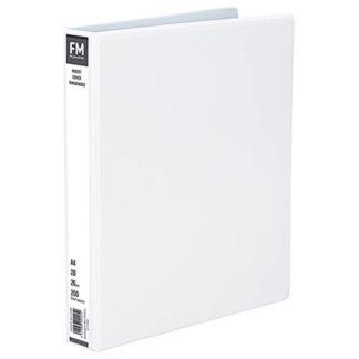 FM Binder Overlay A4 2/26 White Insert Cover