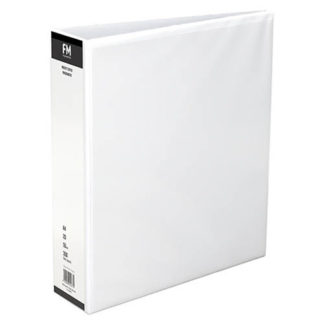 FM Binder Overlay A4 2/50 White Insert Cover