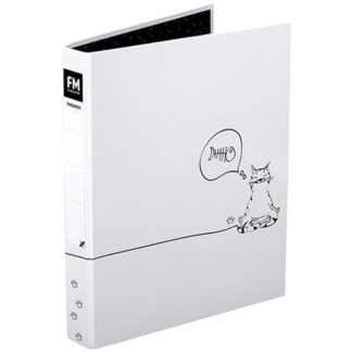 FM Yoga Cats Ringbinder A4 White