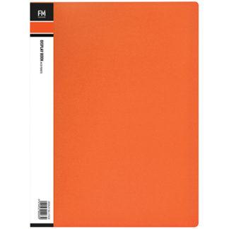 FM Display Book Vivid A4 Burnt Orange 20 Pocket