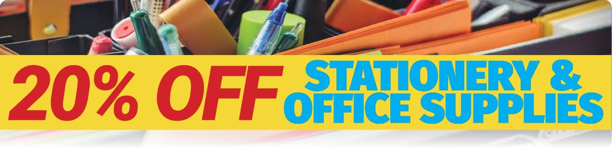 20 OFF STATIONERY HOTDEALS