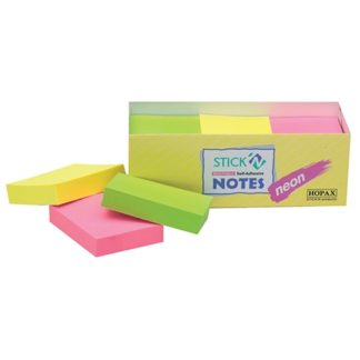 Stick'N Note 38X50mm 100 Sheet Neon Assorted Pack 12