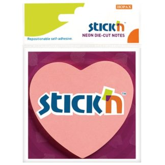Stick'N Die Cut Notes Heart 70X70mm 50 Sheets