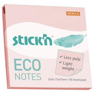 Stick'N Eco Pink Pastel 76X76mm 100 Sheets
