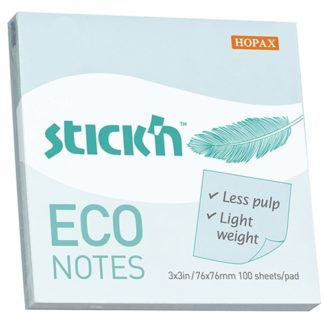 Stick'N Eco Blue Pastel 76X76mm 100 Sheets
