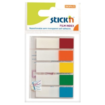 Stick'N Film Index Flags Neon Tips 45X12mm 100 Flags 5 Col