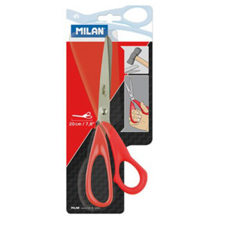 Milan Office Scissors Red 200Mm 7.8 Inch