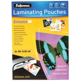 Fellowes Laminating Pouch A4 80 Micron (100)