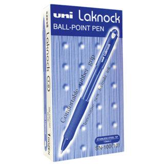 Uni Pen Laknock SN100 10 Blue Medium