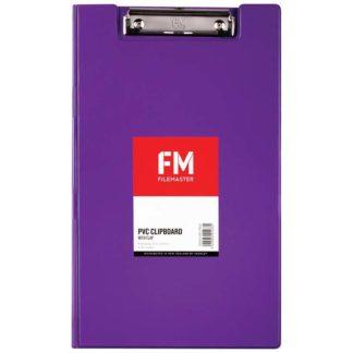 FM Clipboard File Foolscap Pvc With Flap Passion Purple