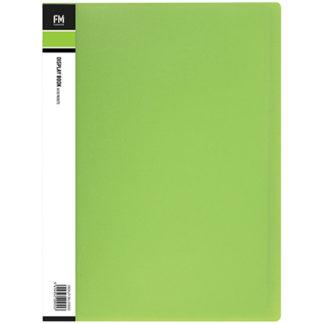 FM Display Book Vivid A4 Lime Green 20 Pocket