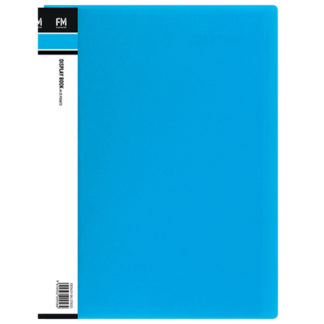 FM Display Book Vivid A4 Ice Blue 20 Pocket