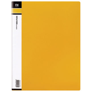 FM Display Book A4 Yellow 20 Pocket