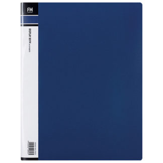 FM Display Book A4 Blue 20 Pocket
