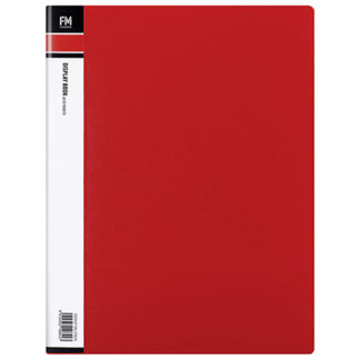FM Display Book A4 Red 20 Pocket