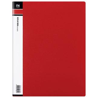 FM Display Book A4 Red 20 Pocket