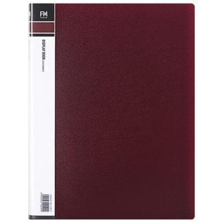 FM Display Book A4 Burgundy 20 Pocket