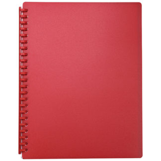 FM Display Book A4 Red - Refillable