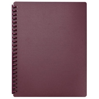 FM Display Book A4 Burgundy - Refillable