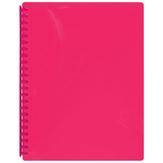 FM Display Book A4 Shocking Pink - Refillable