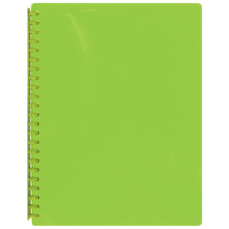 FM Display Book A4 Lime Green - Refillable