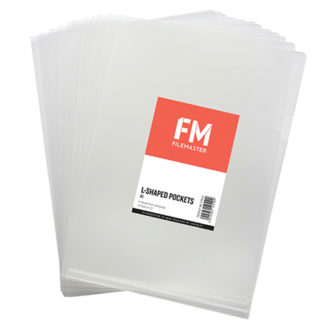 FM Pocket L Shape Clear A4 Clear 12Pk