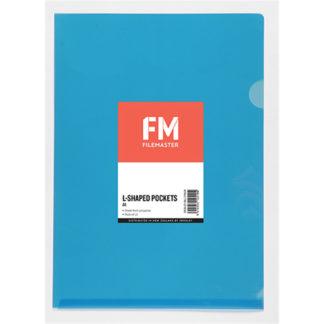 FM Pocket L Shape Clear A4 Blue 12Pk