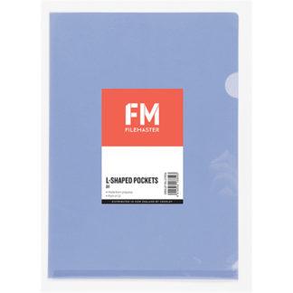 FM Pocket L Shape Clear A4 Light Purple 12Pk