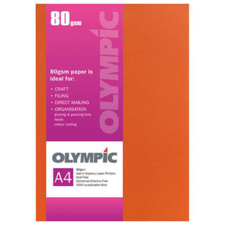 Olympic A4 Flame 80GSM 30 Sheets