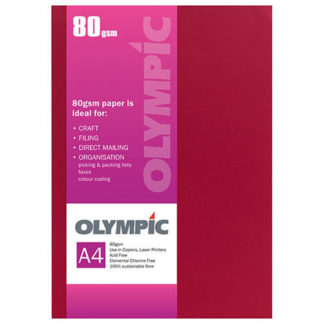 Olympic A4 Intensive Red 80GSM 30 Sheets