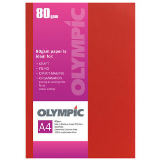 Olympic A4 Intensive Orange 80GSM 30 Sheets