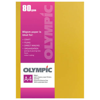 Olympic A4 Intensive Yellow 80GSM 30 Sheets
