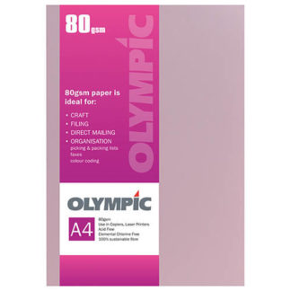 Olympic A4 Pink 80GSM 30 Sheets
