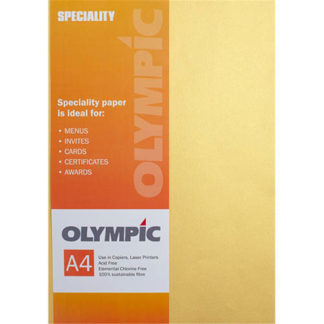 Olympic A4 Metallic Gold 120GSM 10 Sheets