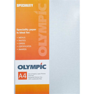 Olympic A4 Metallic Silver 120GSM 10 Sheets