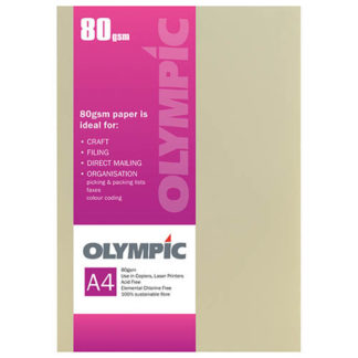 Olympic A4 Canary 80GSM 30 Sheets