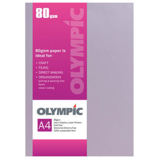 Olympic A4 Lilac 80GSM 30 Sheets