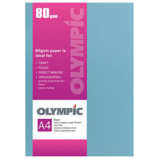 Olympic A4 Dark Blue 80GSM 30 Sheets