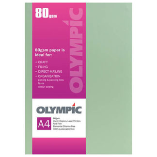 Olympic A4 Green 80GSM 30 Sheets